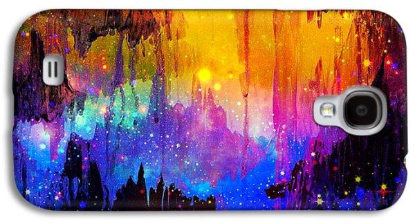 Mystical Landscape Mixed Media Galaxy S4 Cases - Castles in the Mist Galaxy S4 Case by Julia Di Sano