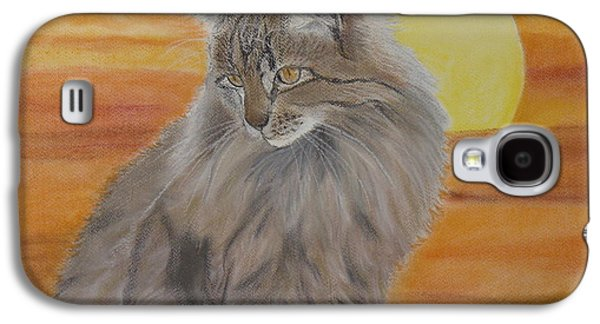 Drawing Galaxy S4 Cases - Cat and Sunset  Galaxy S4 Case by Cybele Chaves