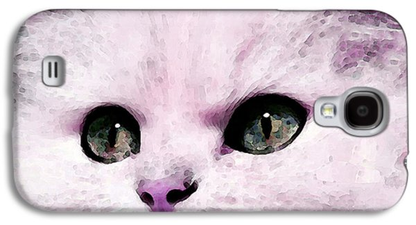 Cats Digital Art Galaxy S4 Cases - Cat Art - My Eyes Adore You Galaxy S4 Case by Sharon Cummings