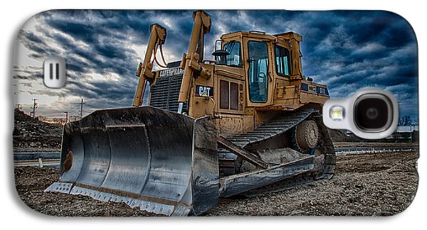 Cat Bulldozer Galaxy S4 Case by Mike Burgquist