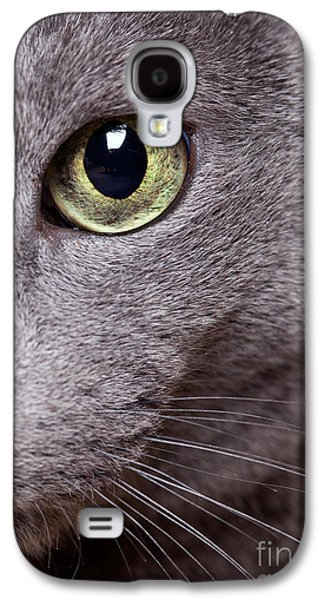 Play Photographs Galaxy S4 Cases - Cat Eye Galaxy S4 Case by Nailia Schwarz