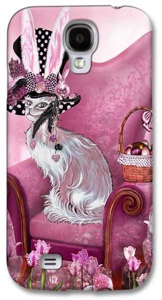 Mad Hatter Galaxy S4 Cases - Cat In Mad Hatter Hat Galaxy S4 Case by Carol Cavalaris