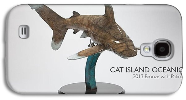 Sharks Sculptures Galaxy S4 Cases - Cat Island Oceanic Galaxy S4 Case by Victor Douieb