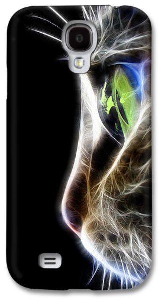 Animation Galaxy S4 Cases - Cat Macro  Galaxy S4 Case by Mark Ashkenazi