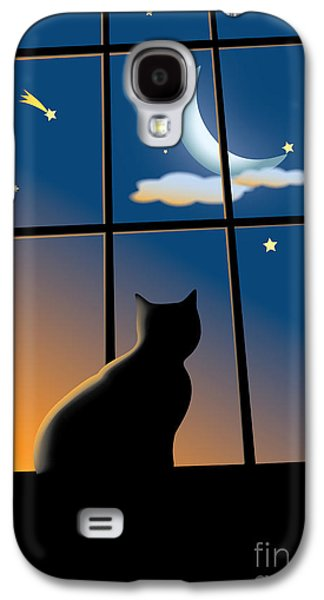 Concentration Digital Galaxy S4 Cases - Cat On The Window Galaxy S4 Case by Aleksey Tugolukov
