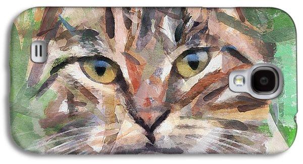 House Pet Digital Art Galaxy S4 Cases - Cat Selfy Galaxy S4 Case by Yury Malkov