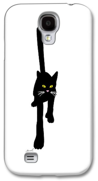 House Pet Digital Art Galaxy S4 Cases - Cat Stepping Forward Galaxy S4 Case by Jeanette Charlebois