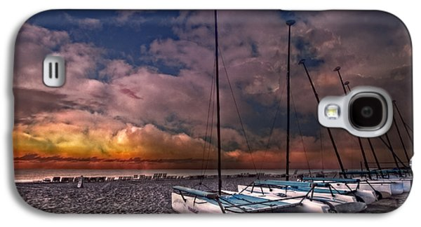 Transportation Photographs Galaxy S4 Cases - Catamarans at Sunrise Galaxy S4 Case by Debra and Dave Vanderlaan