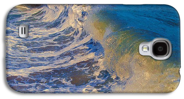 Undertow Paintings Galaxy S4 Cases - Catch a Wave Galaxy S4 Case by John Haldane