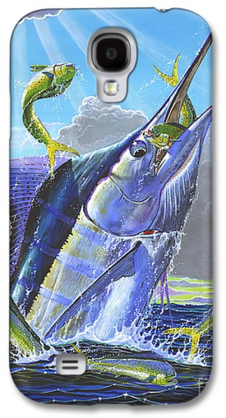 Marlin Galaxy S4 Cases - Catch em up Off0029 Galaxy S4 Case by Carey Chen