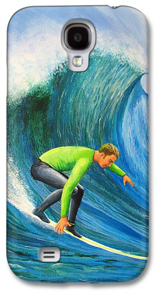 Steamer Lane Galaxy S4 Cases - Catch The Wave Galaxy S4 Case by Bev Martin