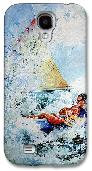 Canadian Sports Paintings Galaxy S4 Cases - Catch The Wind Galaxy S4 Case by Hanne Lore Koehler