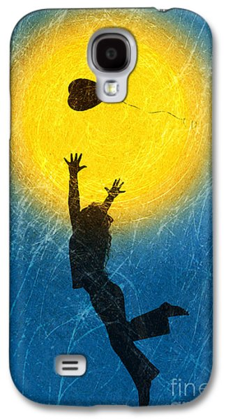 Playful Digital Galaxy S4 Cases - Catching a Heart Galaxy S4 Case by Tim Gainey