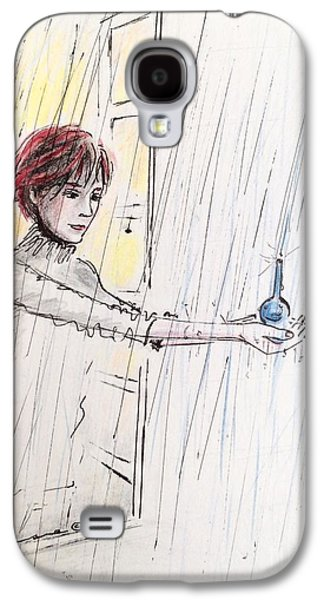 Tear Drawings Galaxy S4 Cases - Catching the Tears Galaxy S4 Case by Barbara Chase