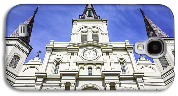 Louisiana Photographs Galaxy S4 Cases - Cathedral-Basilica of St. Louis King of France Galaxy S4 Case by Paul Velgos