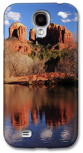 Cathedral Rock And Reflections At Sunset Galaxy S4 Case by Michel Hersen