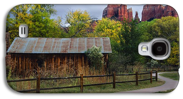 Cathedral Rock Photographs Galaxy S4 Cases - Cathedral Rock Buildings near Sedona Galaxy S4 Case by Dave Dilli