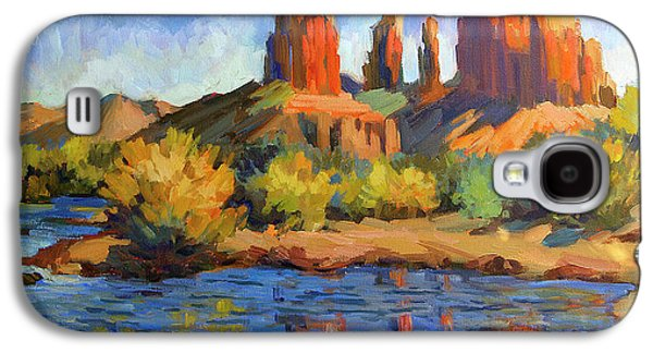 Cathedral Rock Galaxy S4 Cases - Cathedral Rock Sedona Galaxy S4 Case by Diane McClary