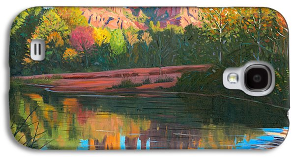 Oak Creek Galaxy S4 Cases - Cathedral Rock - Sedona Galaxy S4 Case by Steve Simon