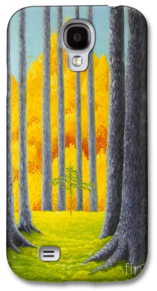 Wilderness Paintings Galaxy S4 Cases - Cathedral Galaxy S4 Case by Veikko Suikkanen