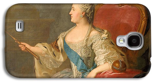 Orb* Galaxy S4 Cases - Catherine The Great, 1763 Oil On Canvas Galaxy S4 Case by Fedor Stepanovich Rokotov