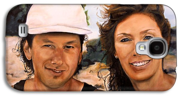 Catherine White Paintings Galaxy S4 Cases - Cathy and Corry Galaxy S4 Case by Michelle Iglesias