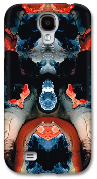 Catman Saves The World - Art By Sharon Cummings Galaxy S4 Case by Sharon Cummings