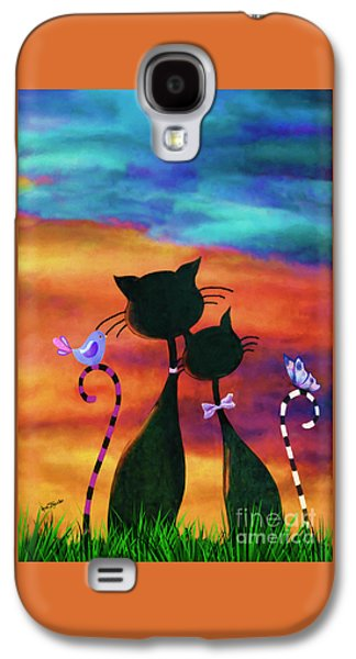 Girl Galaxy S4 Cases - Cats and Dreams Galaxy S4 Case by AnaCB Studio