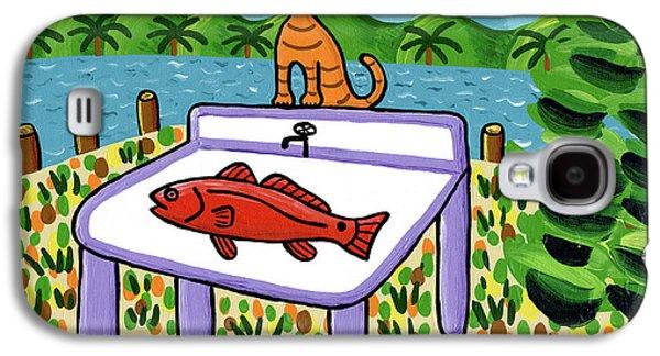 Cedar Key Galaxy S4 Cases - Cats Fish - Cedar Key Galaxy S4 Case by Mike Segal