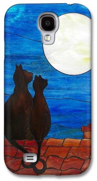 Print Glass Art Galaxy S4 Cases - Cats lovers forever Galaxy S4 Case by Suzanne Tremblay