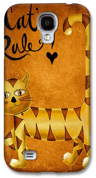 Brenda Bryant Photography Galaxy S4 Cases - Cats Rule Galaxy S4 Case by Brenda Bryant