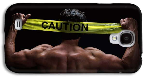 Strength Photographs Galaxy S4 Cases - Caution Galaxy S4 Case by Jane Rix