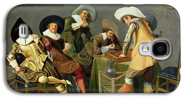 Playing Photographs Galaxy S4 Cases - Cavaliers In A Tavern Oil On Canvas Galaxy S4 Case by Dirck Hals