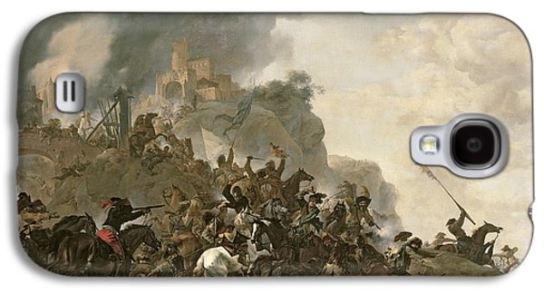 Fantasy Photographs Galaxy S4 Cases - Cavalry Making A Sortie From A Fort On A Hill, 1646 Oil On Canvas Galaxy S4 Case by Philips Wouwermans or Wouwerman
