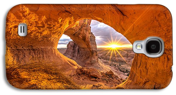Southern Utah Galaxy S4 Cases - Cave Arch Galaxy S4 Case by Dustin  LeFevre