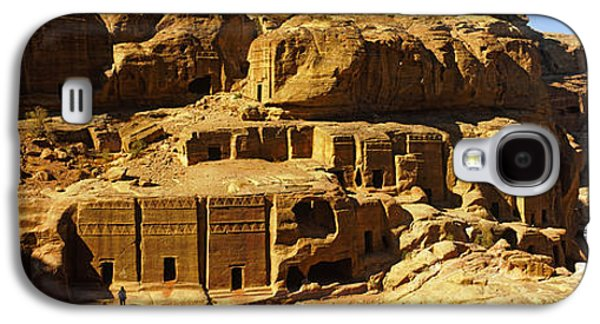 Petra Galaxy S4 Cases - Cave Dwellings, Petra, Jordan Galaxy S4 Case by Panoramic Images
