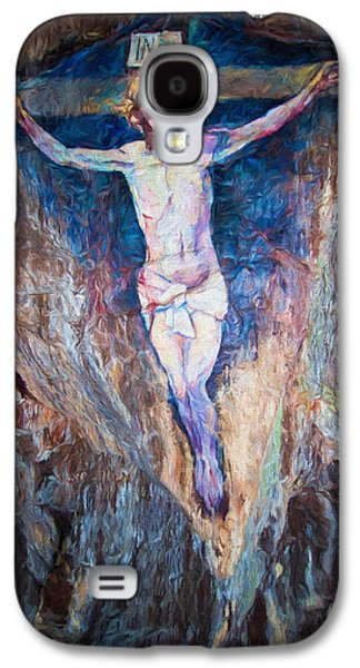 Crucifixtion Galaxy S4 Cases - Cave Painting of the Crucifixion Galaxy S4 Case by Roy Pedersen