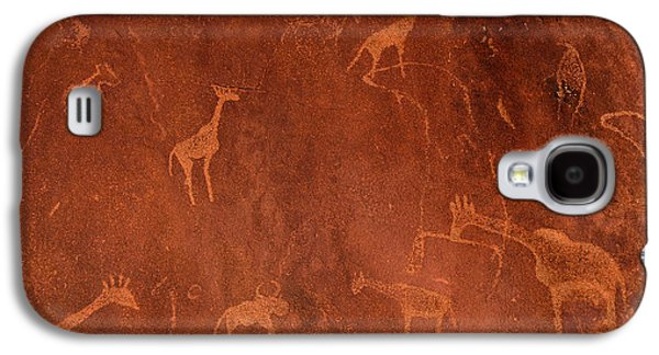 Ancient Galaxy S4 Cases - Cave Paintings By Bushmen, Damaraland Galaxy S4 Case by Panoramic Images