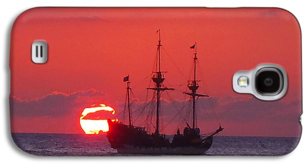 Pirate Ships Galaxy S4 Cases - Cayman sunset Galaxy S4 Case by Carey Chen