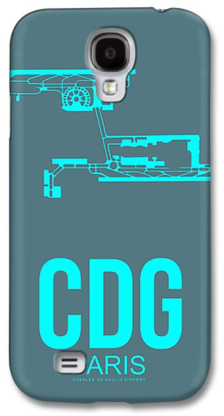 Cdg Paris Airport Poster 1 Galaxy S4 Case by Naxart Studio