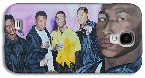 African-american Galaxy S4 Cases - Cecils Son and Them Galaxy S4 Case by Ludovic Bowe