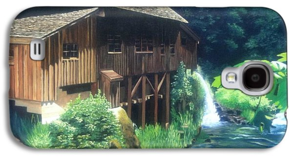 Grist Mill Paintings Galaxy S4 Cases - Cedar Creek Grist Mill Galaxy S4 Case by Cireena Katto