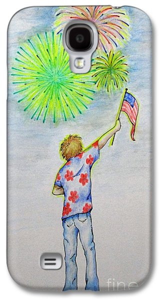 4th July Paintings Galaxy S4 Cases - Celebrate America Galaxy S4 Case by Catherine Howley