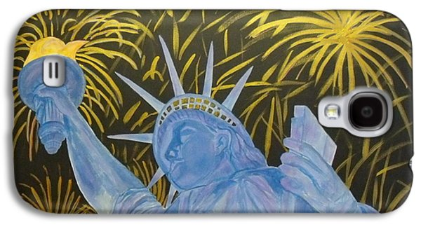 4th July Paintings Galaxy S4 Cases - Celebrate Freedom Galaxy S4 Case by Cheryl Lynn Looker