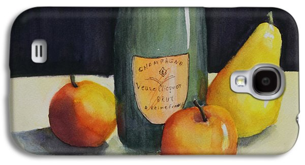 Champagne Paintings Galaxy S4 Cases - Celebrate Galaxy S4 Case by Maria Hunt
