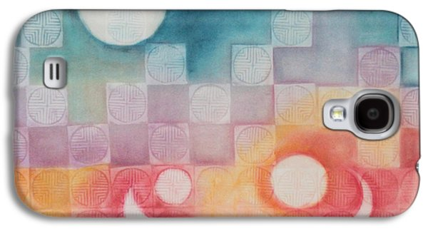 Constellations Paintings Galaxy S4 Cases - Celestial Matrix Galaxy S4 Case by Diana Perfect