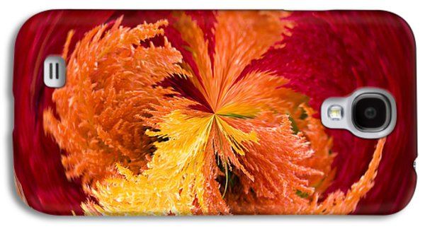 Abstract Digital Photographs Galaxy S4 Cases - Celosia on Fire Galaxy S4 Case by Anne Gilbert