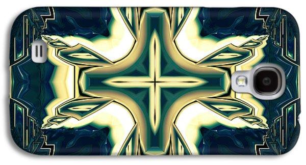 Ceramic Mixed Media Galaxy S4 Cases - Celtic Cross Abstract Galaxy S4 Case by Georgiana Romanovna