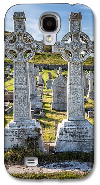 Cemetary Galaxy S4 Cases - Celtic Crosses Galaxy S4 Case by Adrian Evans