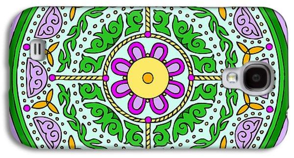 Kim Digital Art Galaxy S4 Cases - Celtic Mandala Spring Galaxy S4 Case by Kim Victoria